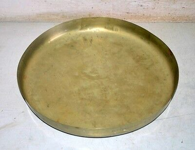 Vintage Old Rare Brass Hand Carved Dinner Lunch Food Plate Indian kitchenware