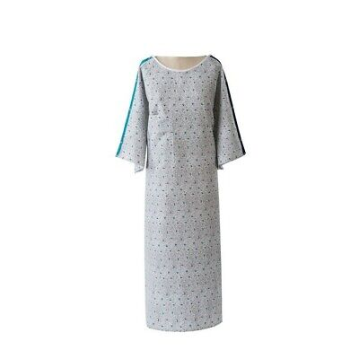 Hospital Gown with Color Coordinating Snap Sleeves and Telemetry Pocket 48 x 72