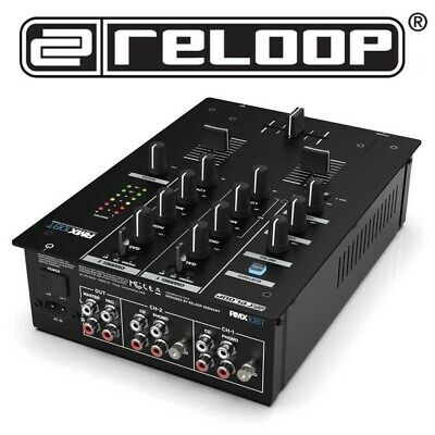 Reloop RMX-10-BT 2-Channel Live Club DJ Mixer Mixing Desk with Bluetooth