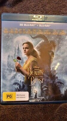 Beauty and the Beast (2017) (3D Blu-ray + 2D Blu-ray) Region B  NEW/UNSEALED