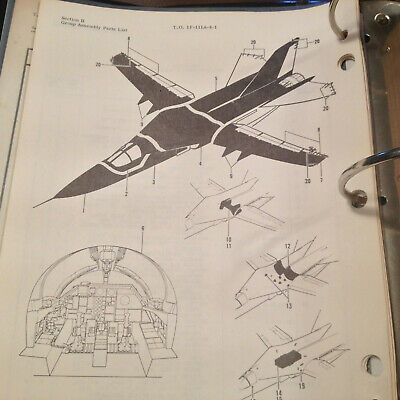 1978 General Dynamics F-111A Aardvark Illustrated Parts Manual, 1200+ pages