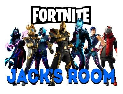 """Season 10 Fortnite """"Child's Room"""" Poster A4/ Personalised- Birthday/Gift"""