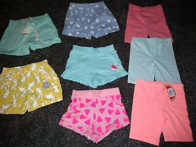 Girls gorgeous summer bundle of 8 pairs of shorts 18-24 months some are BNWT