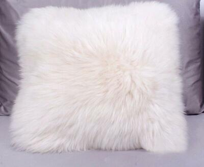 Luxury Real Sheep Skin Fur Fleece Pillow Cushion Soft Cove Pillowcase Pageant