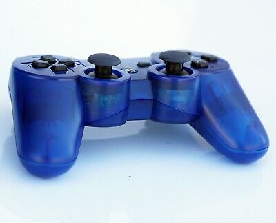 Transparent Wireless Remote PS3 Controller Gamepad 4 use with PlayStation3 Blue