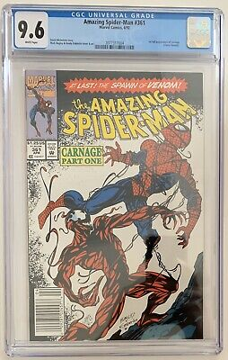 (1992) AMAZING SPIDERMAN #361 CGC 9.6! 1st CARNAGE! RARE NEWSSTAND VARIANT COVER