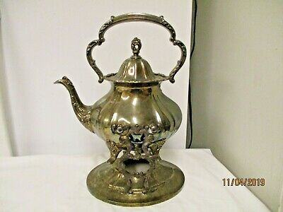 Antique Lancaster Rose by Poole EPCA Plate 400K Coffee Pot-Oval Warmer Holder