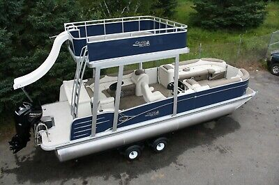 Fall blowout-New-2585 Funship cruise pontoon boat with 115