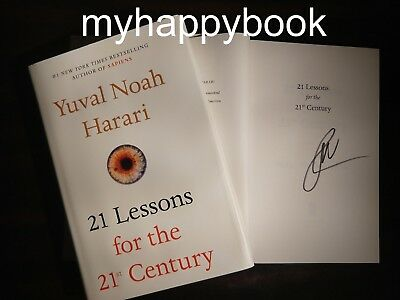 SIGNED 21 Lessons for the 21st Century by Yuval Noah Harari, autographed, new