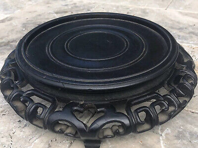 Antique Chinese Wood Hand Carved Large Stand for Display Vase Bowl Pot Jar
