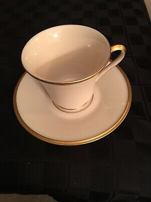 Lenox Eternal Ivory Gold Rim China Coffee Tea Cup and Saucer