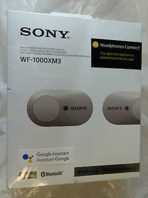 Sony Wf-1000Xm3 Wireless Noise Canceling Silver Headphones Brand New,Sealed