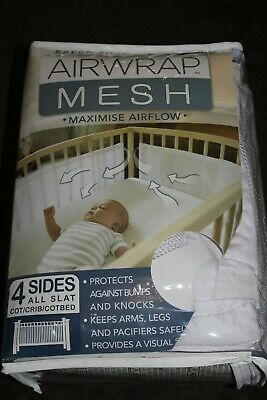 Airwrap Mesh Breathable Slat Cot Bumper Used