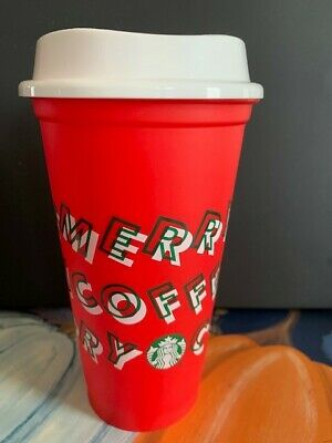 Starbucks Christmas Holiday 2019 Merry Coffee Hot Reusable Cup Red tumbler New