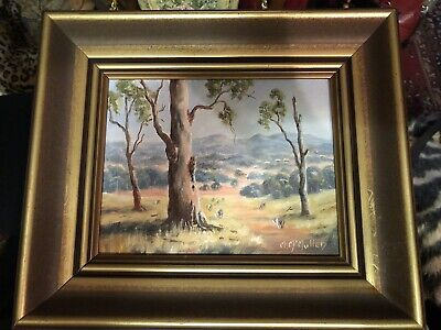 "Original Oil Painting "" Towards Condobolin"" By Marie McMullen 28x24cm"
