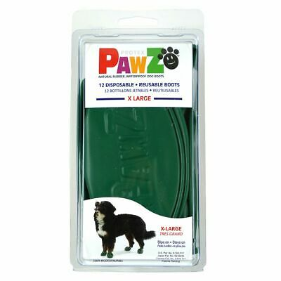 PawZ Protex Dog Boots Water-Proof Paws Disposable Reusable X-Large Green