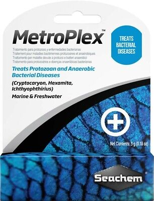 Seachem Metroplex Effective Safe Treatment Bacterial Diseases 5 grams