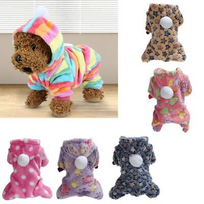 Soft Hoodie Fleece Dog Jumpsuit Winter Dog Clothes Small Puppy Coat Pet Outfits