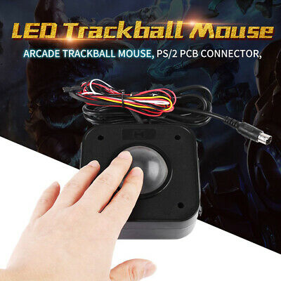 US Illuminated LED Trackball Mouse PS/2 PCB Connector For Arcade Game Console