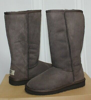 Ugg Kids Classic Tall Boots Chocolate Brown Suede Style 5229 NEW