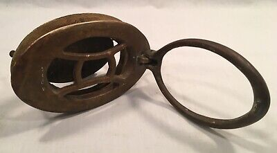 Antique, Brass, Door Speakeasy Peephole W/Knocker