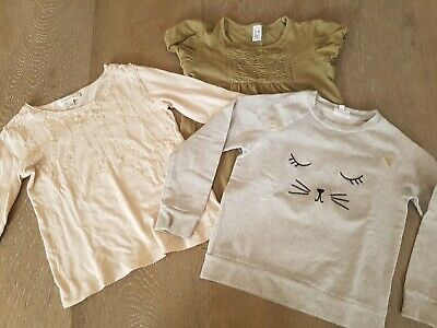 Size 5-6 Girls Seed Jumper, Zara Top And Witchery Kids Top