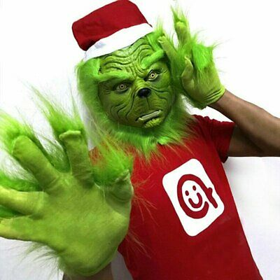 The Grinch Glove Cosplay Mask Costume Christmas Prop How the Grinch Stole NEW