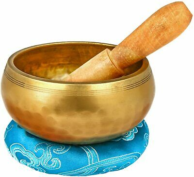4.2'' Tibetan Meditation Yoga Singing Bowl Set, Hand Hammered Singing Bowl