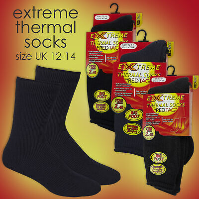 Red Tag Mens Extreme Thermal Heat Socks Thick Size 12 13 14 12-14 Tog 2.45 Warm
