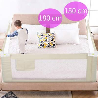 Vertical Lift 150/180cm Bed Rail Safety Guard Folded Toddler Sleeping Protection