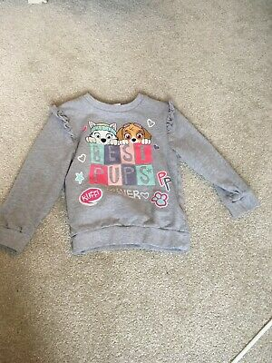 Mothercare Grey Jumper With Printed Dogs Size 3-4 Years