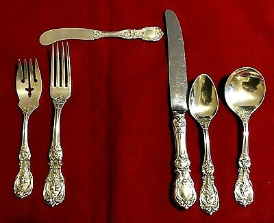 Reed and Barton Francis the 1st Sterling Silver 6 Piece Place Setting OLD MARK