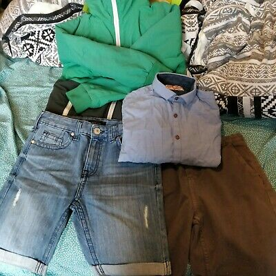 Boys Bundle next river island shirt shorts winter jacket size 9/10 good conditio