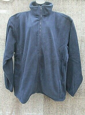 MENS Full Zip Classic Fleece Jackets Size 4XL  and 5 SPORTS ,WORK ,CASUAL .BLUE