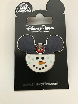 Disney Collectible Trading Pin. Christmas. Mickey Snowman Ears Head