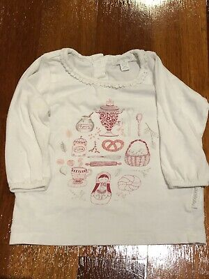 purebaby Long Sleave Top Size 0 (6-12 Months)