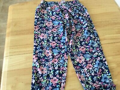 Next Girls Floral Trousers Size 7 Years
