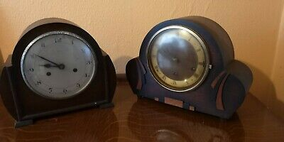 Vintage Art Deco Mantle Clocks x 2