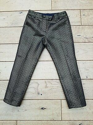 Girls Next Black And Gold Party Trousers Age 7 Years