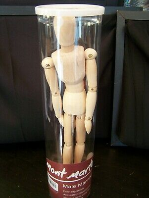 Mont Marte - 30cm Male Mannikin - Fully Adjustable - Flexible Joints - NEW
