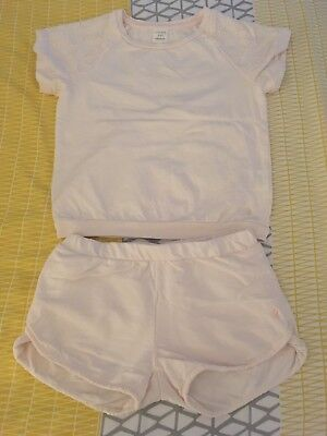 carrement beau Outfit Shorts And T Shirt Set Girls Size Age 8