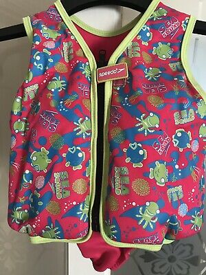 Speedo Swimming Jacket Float Girls 2-3 Year 1&kg