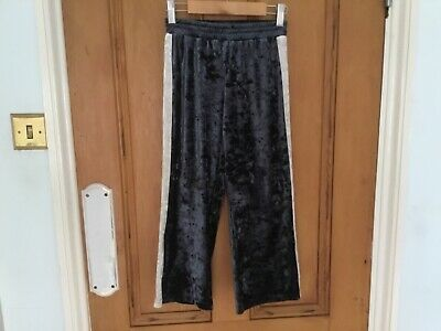 Girls Next crushed velvet wide leg trousers culottes age 7 years worn once