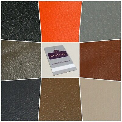 4MM FOAM BACKED LEATHERETTE FABRIC Fire Retardant 3 colours Upholstery Benches