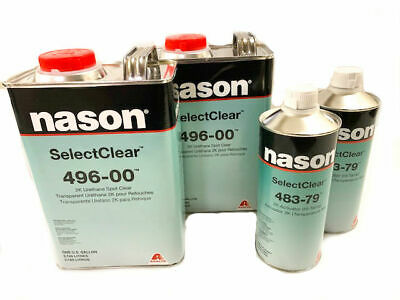 Nason 496-00 2K Urethane SelectClear Coat With 483-79 High Temp Activator Combo