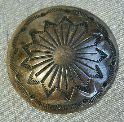 Antique Navajo Button Silver Plated (Maybe Sliver) Xtr Lrg #602-B