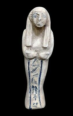 Ushabti Ancient Egyptian Antique Faience Egypt Rare Bc Shabti C Amulet Pharaonic