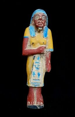 Ushabti Egyptian Ancient Shabti Bc Rare Antique Faience Stone Statue Egypt big