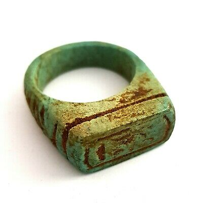 Ring Egyptian Ancient Stone Egypt Bc hieroglyphic Size Antique 1069–664 Rare art