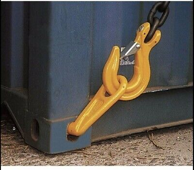 Container Lifting Hook, Right Hand 12.5 Ton rated High Strength Forged Steel